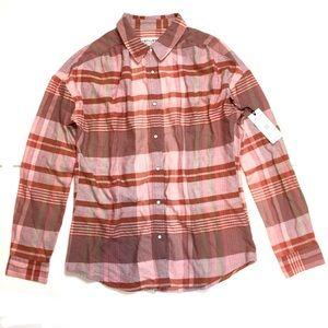 Idyllwind Copper Rust Orange Plaid Shirt Sz S